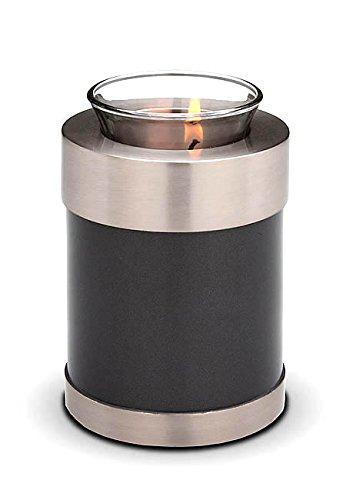 Verbrennung Asche Miniatur-Urne–Kerzenhalter Andenken (schwarz)