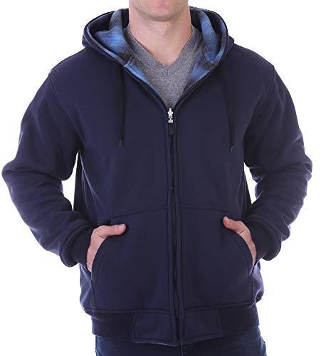 Woodland Supply Co. Herren Kapuzenpullover wendbar Fleece Reißverschluss - Mehrfarbig - Groß Woodland Fleece-sweatshirt