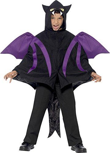 Smiffys Kinder Unisex Vermummte Gestalt Kostüm, Cape mit Flügeln und Schwanz, Größe: S/M, 44323