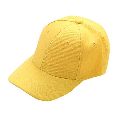 VRTUR Baseball Cap 'Euro' = 100% Baumwolle im 13 Farben Einfarbig Einfach Baseball Cap Hut Unisex Damen Herren Trucker Kappe Baseballmütze(Einheitsgröße,Blau)