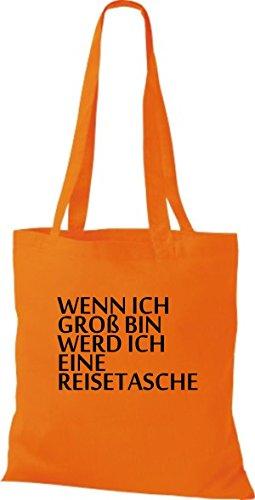 Shirtinstyle , Cabas pour femme Orange  - Orange