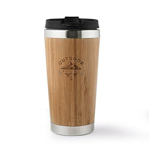 Kaffee Thermobecher aus Bambus von OUTDOOR FREAKZ – 450 ml - 7