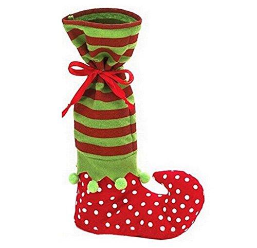 Traditionelle Kostüm Elf - treester Dekorationen Weihnachten Snowman Elk Elf Kostüme Geschenk zum Feiern traditionellen Socken Geschenktasche 1pcs 35 * 20 cm Socke