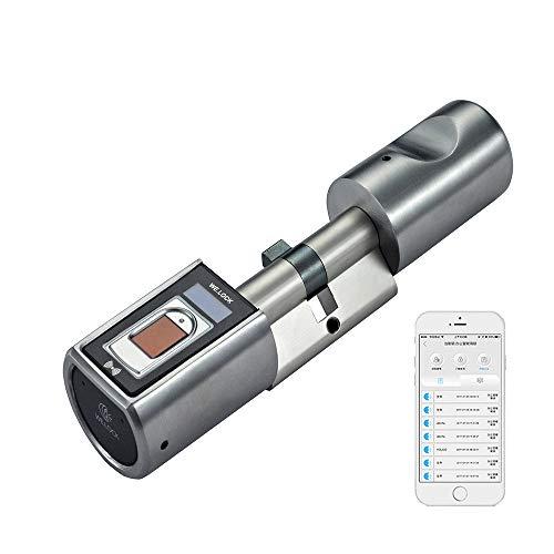 WE.LOCK Smart Lock mit biometrischer Fingerabdruck und Bluetooth App elektronisches türschloss Fernbedienung in Keyless ...