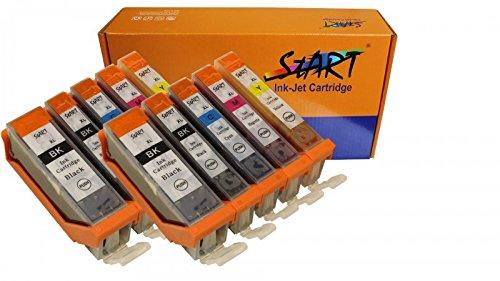 Preisvergleich Produktbild Start - 10 XL Ersatz Chip Patronen kompatibel zu Canon PGI-570 PGBK XL Schwarz, CLI-571BK XL Foto-Schwarz, CLI-571C XL Cyan, CLI-571M XL Magenta, CLI-571Y XL Gelb