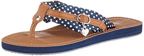 Tamaris Damen 1-1-27109-22 Pantoletten, Blau (Navy Dots 888), 36 EU - Navy Frauen Schuhe
