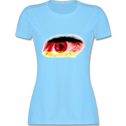 EM 2016 - Frankreich - Auge Bodypaint Deutschland - tailliertes Premium T- Shirt mit Rundhalsausschnitt
