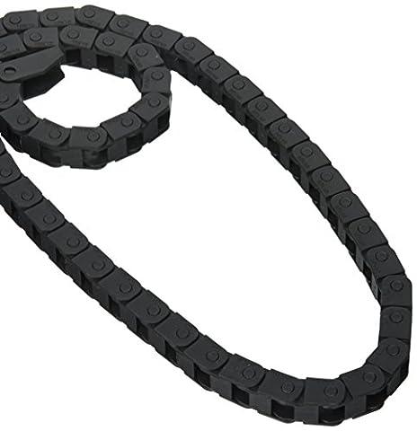 Black Semi Enclosed Drag Chain Carrier 10mm x 10mm 40.9