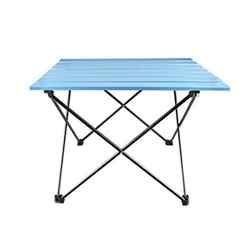 Portable Campingtisch Im Freien Faltbare Aluminium Tischleuchte Leicht Mit Leicht Zu Reinigen (Farbe : Large Blue)