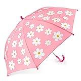 Kinder Regenschirm, OMOTON Kinderschirmmit Farbwechsel, leicht und stail mit Wunder-Blume, Rosa