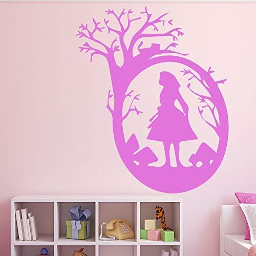 yaonuli adesivo decorativo da parete in vinile per ragazza carina adesivo decorativo per camera dei bambini adesivo decorativo rimovibile 102x95cm