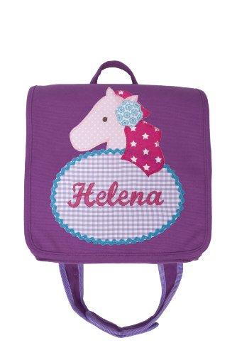 Kindergartentasche mit Namen und Kinderrucksack mit Namen (Motiv Apfel) Motiv Helena