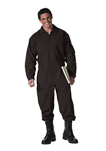 Adult Black Military Flight Suit (Top Flight Gun Herren Suit)