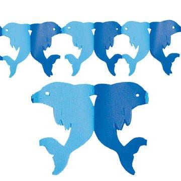 lphin-Girlande blau-hellblau, 300 cm ()