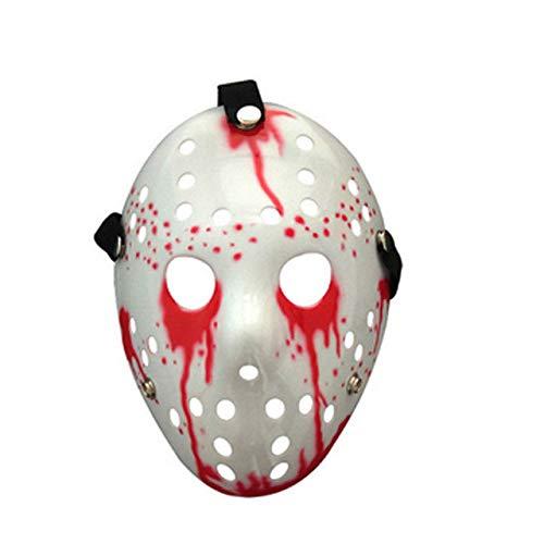 Dodom Jason Voorhees Scary Mask Freitag der 13. Horrorfilm Hockey Halloween Kostüm, A