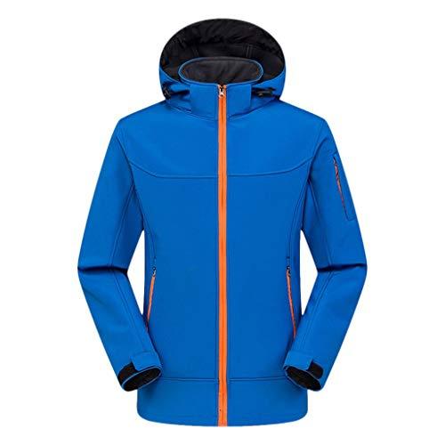 jjggsi4 softshell uomo con cappuccio invernale per giacca soft shell antivento e impermeabile sport all'aria aperta escursioni capispalla cappotto con cappuccio