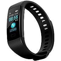 Yubusiness Montre Connectée, Sport Fitness Tracker d'Activité avec Bluetooth Montre Cardio ÉtancheIP67avec Cardiofréquencemètres, Podomètre, Distance, Calorie,pour iOS Android
