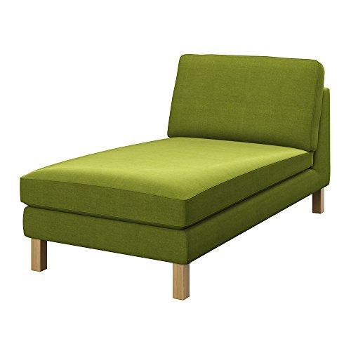 Soferia - Bezug fur Ikea KARLSTAD Freistehende Recamiere, Elegance Green