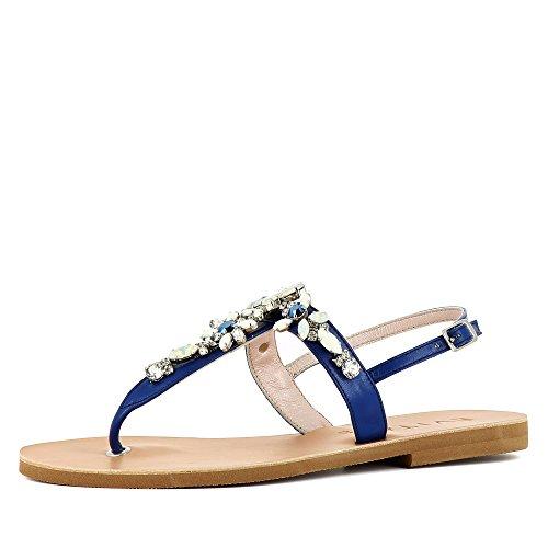 Glattleder Damen Sandale Damen Damen GRETA Blau Sandale Glattleder GRETA Blau GRETA Ptwwzxp6