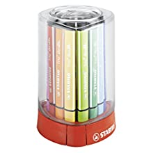 Felt Tip Pen - STABILO Trio Scribbi Desk set of 12 assorted colours