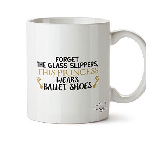 ssen das Glas Hausschuhe, This Princess Wears Ballett Schuhe 283,5Tasse, keramik, weiß, One Size (10oz) ()