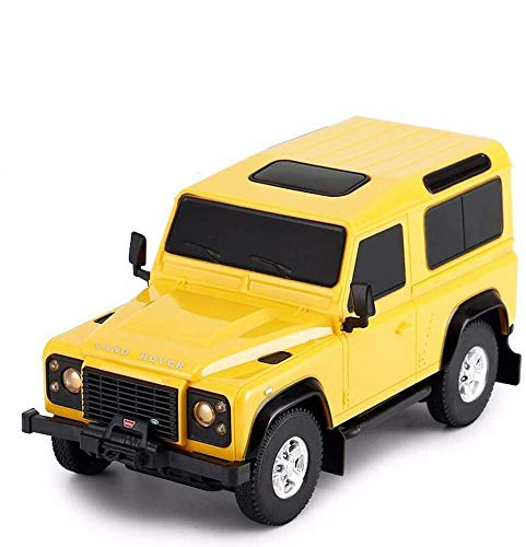 MECFIGH Simulation RC Car 01.24 Vierrad-Fahrer Rock-Crawlers Spielzeug RC Auto Driften Doppel Motors Funkgesteuerte LKW Climbing stoß- Spielzeug-Kind-Geschenk-Schwarz (Color : Yellow)