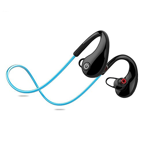 Dixinla Fashion Bluetooth Kopfhörer Sport Bluetooth Headset Wireless Bluetooth Wasserdicht Headset Zwei-Ear Stereo Running Sport Kopfhörer, B