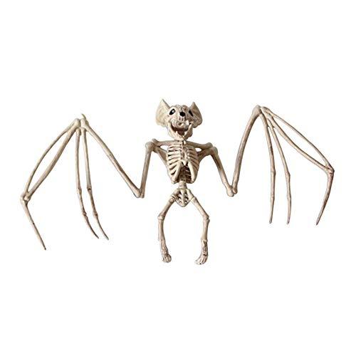 Dastrues Tier Skelett Modell Bat/Frosch/Lizard Knochen Halloween Party Dekoration - A, 17cm*2cm*30cm - Knochen Lizard