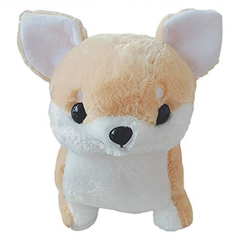 FeiyanfyQ 30/50 cm Chihuahua-Hundespielzeug, Plüschtier, weich gefüllte Puppe, Kissen - Weiß und Braun 50 cm