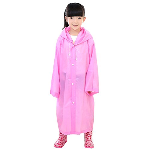 LQZ (TM Waterproof Clothing Rain Raincoat Rainsuit With Hood Camping Poncho Long Portable Unisex Lightweight Transparent