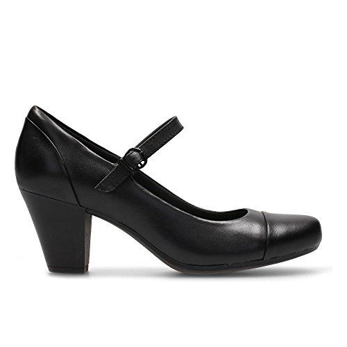 Clarks Garnit Tianna – Zapatos de cordones de Piel para mujer negro negro