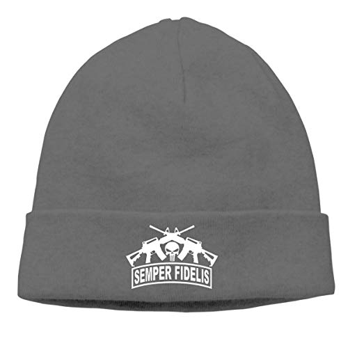 e57fb5755cc ARTOPB Fashion Funny 2019 Warm Winter Beanie Punisher Semper Fidelis Men  Women Outdoor Skull Cap Warm