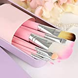 Hello Kitty latex-less, anti microbial foam Makeup Fever Mini Brush Set (Pink) -7 Pieces