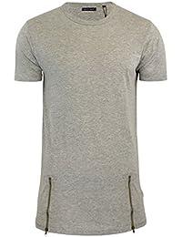 T-shirt Pour Hommes Brave Soul Falcon Long Fermeture Éclair Détails Ras De Cou Haut Manches Courtes
