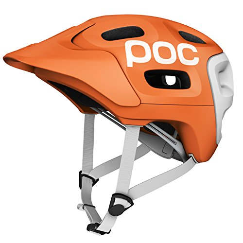 POC Trabec Race - Casco para ciclista, color naranja (orange/white) - 51-54