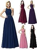Ever-Pretty Robe de Soirée Femme Longue Robe de Bal Cérémonie Mariage Bleu Marine 42...
