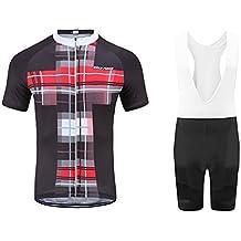 Uglyfrog Abbigliamento Ciclismo Set Primavera/Estivo Abbigliamento Sportivo per Bicicletta Maglia Manica Corta + Pantaloni Corti per Uomo DXMZ02