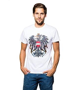 Michaelax-Fashion-Trade Krüger - Herren Trachten T-Shirt in Weiß, Österreich (92212-1)