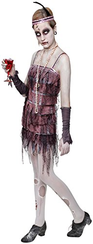 e 's Offizielles Lady Grabstein Halloween Flapper Erwachsene Kostüm Damen Medium (Halloween Flapper)