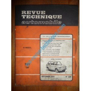 RTA0338 - REVUE TECHNIQUE AUTOMOBILE FIAT 126