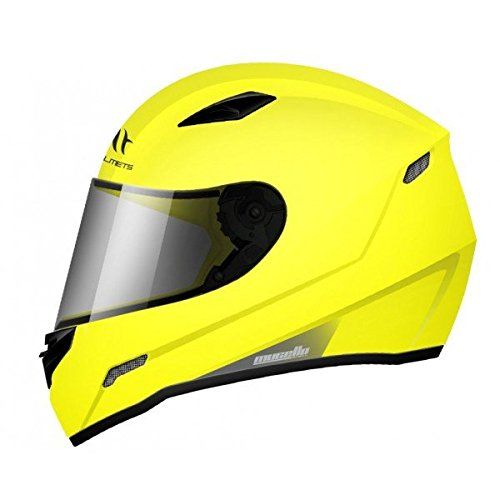MT - Casco Integral MT MUGELLO Gloss Solid Amarillo Fluor Talla XS