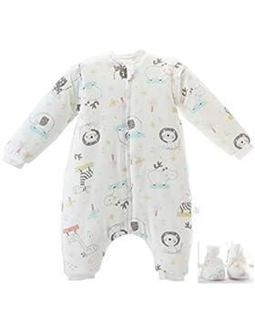 Baby schlafsack mit Beinen Warm Lined Winter Langarm Winter schlafsack mit Fuß und Baby schuhe 3,5 Tog