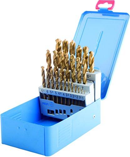 25Pièces de forets hélicoïdaux HSS TiN DIN 338dans boîte en métal Bleu 1–13x 0,5mm