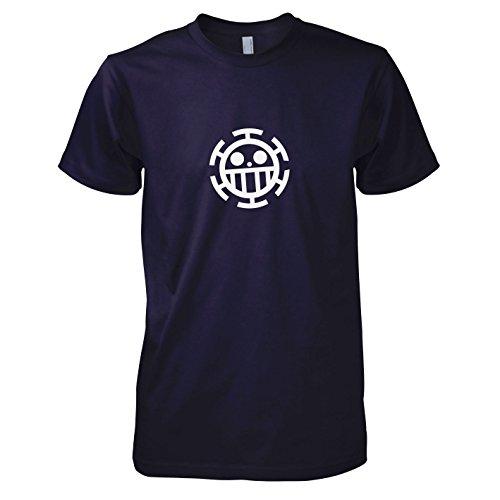 Unlimited Fun Kostüm - Texlab - Heart Piraten - Herren T-Shirt, Größe S, Navy
