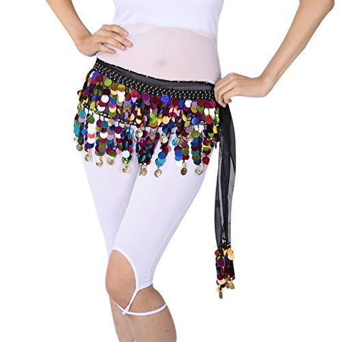 ChYoung Bauchtanz Kostüm Glänzende Münzen Tops BH/Bauchtanz Hüfttuch Rock Gürtel Damen Mädchen Outfits