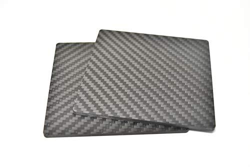 Original Umkehrbar Carbon Faser Untersetzer entworfen von TGG, 98mm x 98mm x 3mm (matt-Finish, Set von 2) -