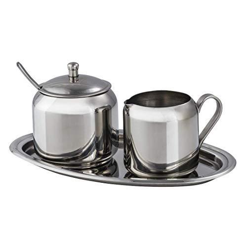 Xavax Milch- und Zucker-Set aus Edelstahl, 3-teilig