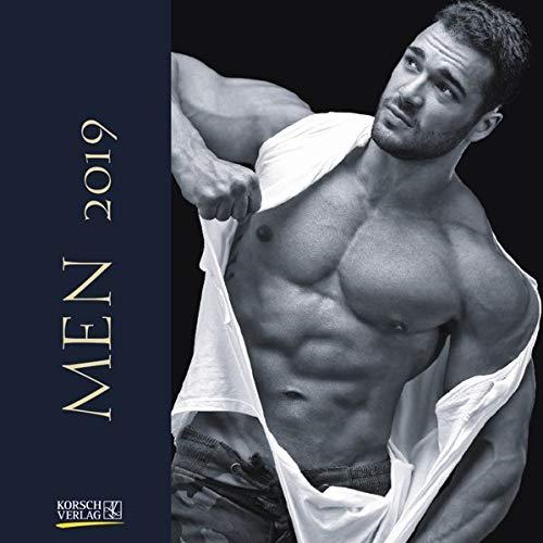 Men (BK) 224419 2019: Broschürenkalender mit Ferienterminen. Erotik-Kalender in schwarz weiß. 30 x 30 cm