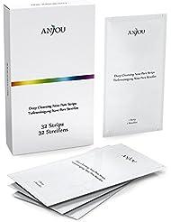 Hautverfeinernde 32 pcs Anjou Clear-Up Streifen zum Mitesserentfernen, halten 4-6 Monate, Antibakteriell & Entzündungshemmend, Einfache Anwendung und Ergonomisches Design