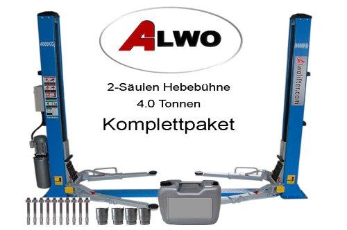 Alwo-Technology 2 Säulen Hebebühne automatischer Entriegelung Pkw Tranporter 4.0t